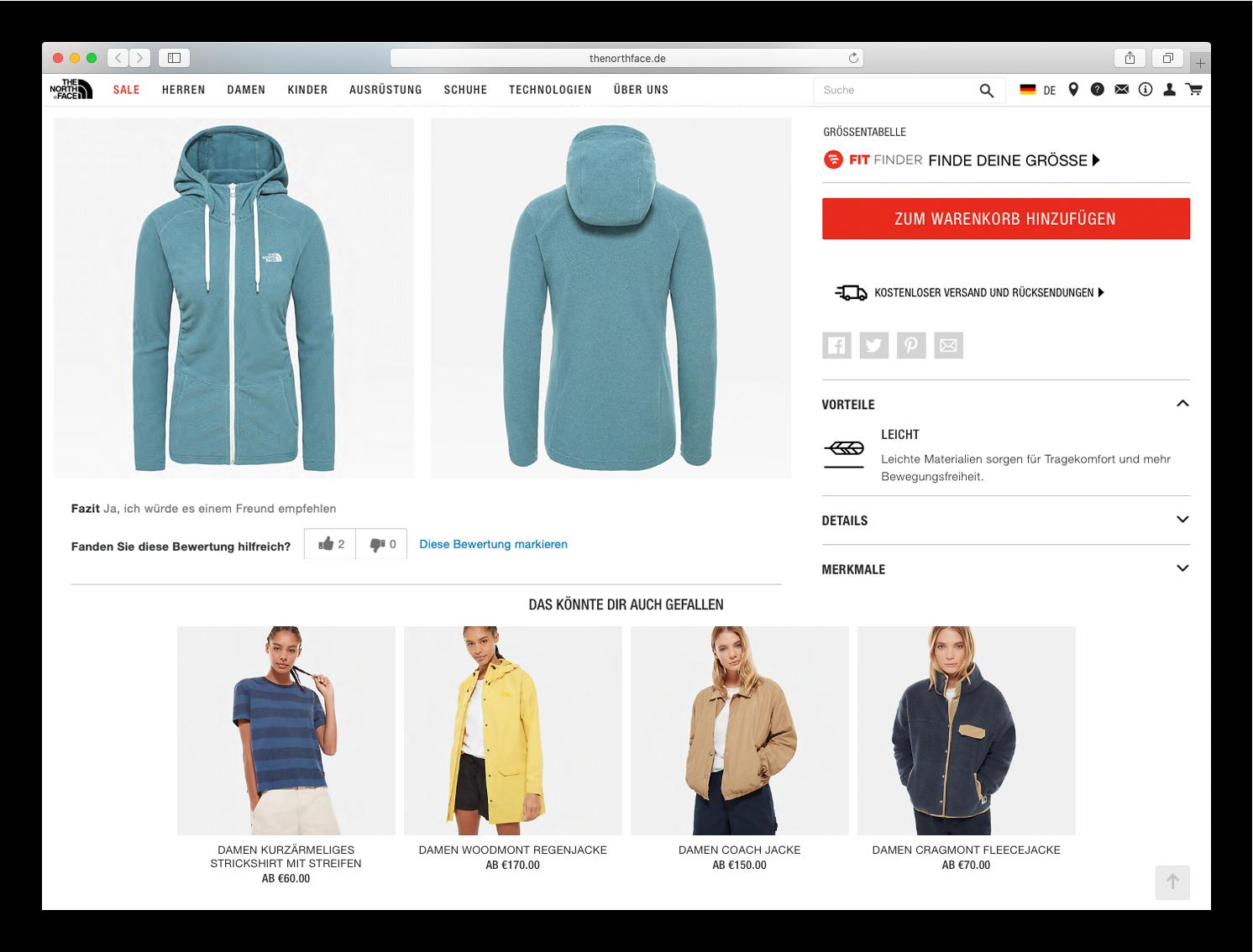 Northface-gleiche-produktempfehlungen-jacke-hellblau