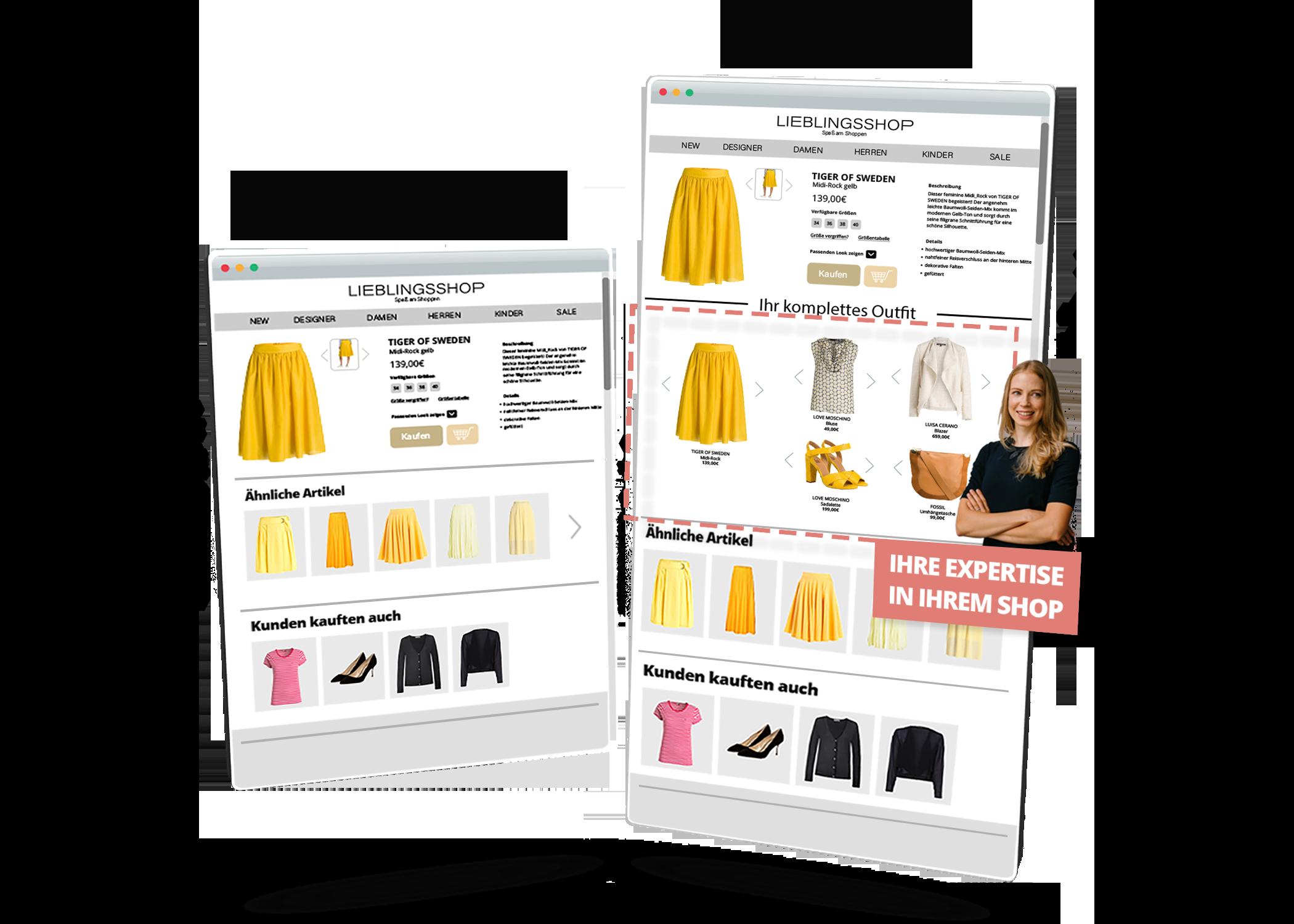 Shopsystem Seite Vergleich