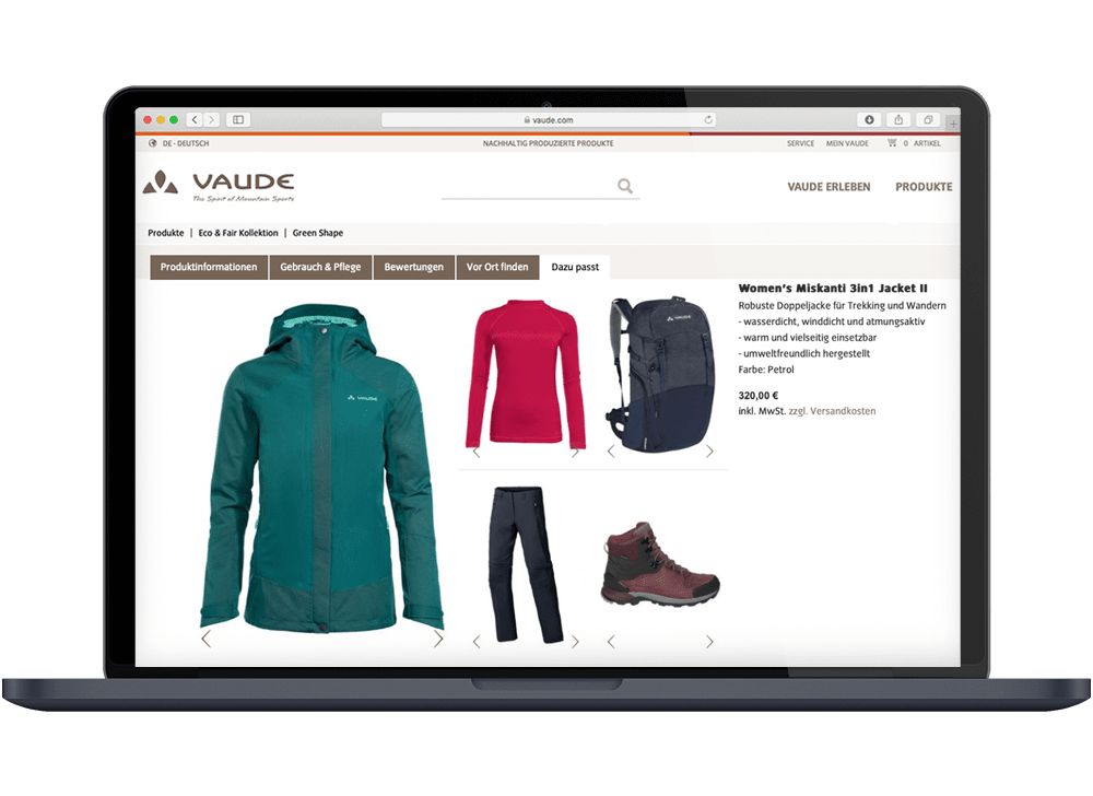 8select VAUDE Product Set